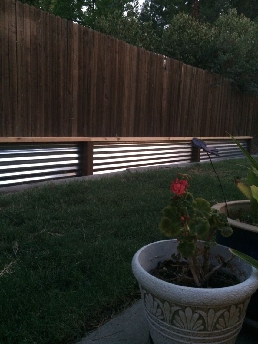 Low retaining wall with bench Easy, DIY, low cost | Metal ... on Low Cost Patio Ideas id=92307