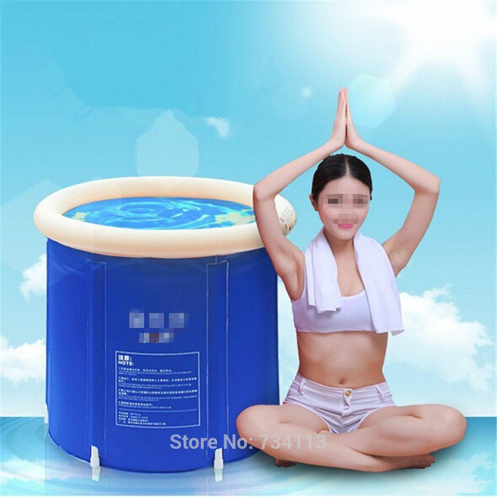 Portable inflatable bath tub Folding tub bath, adult/child bathtub ...