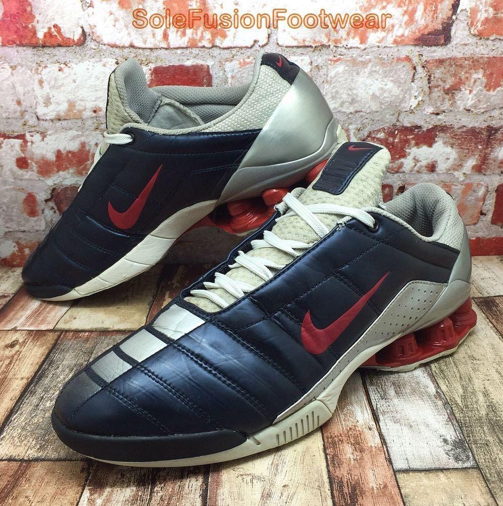 Nike Mens SHOX Secutor Trainers Blue size 9 Soccer Sneakers US 10 EU 44  Rare VTG  08fb6659b