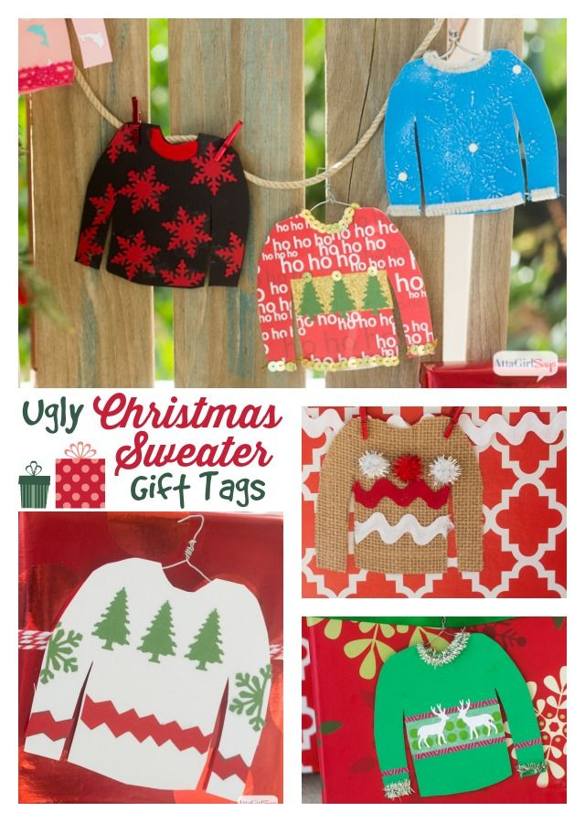 7a2d197971c56a Ugly Christmas Sweater Party Gift Tags