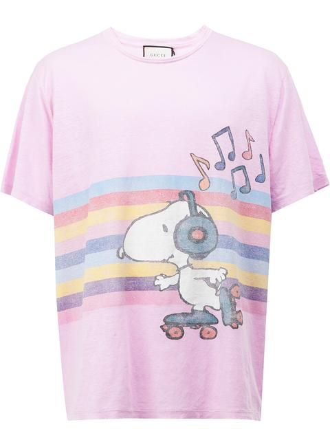 aa7e5b77e GUCCI Snoopy and Woodstock rollerskate T-shirt. #gucci #cloth #t-shirt
