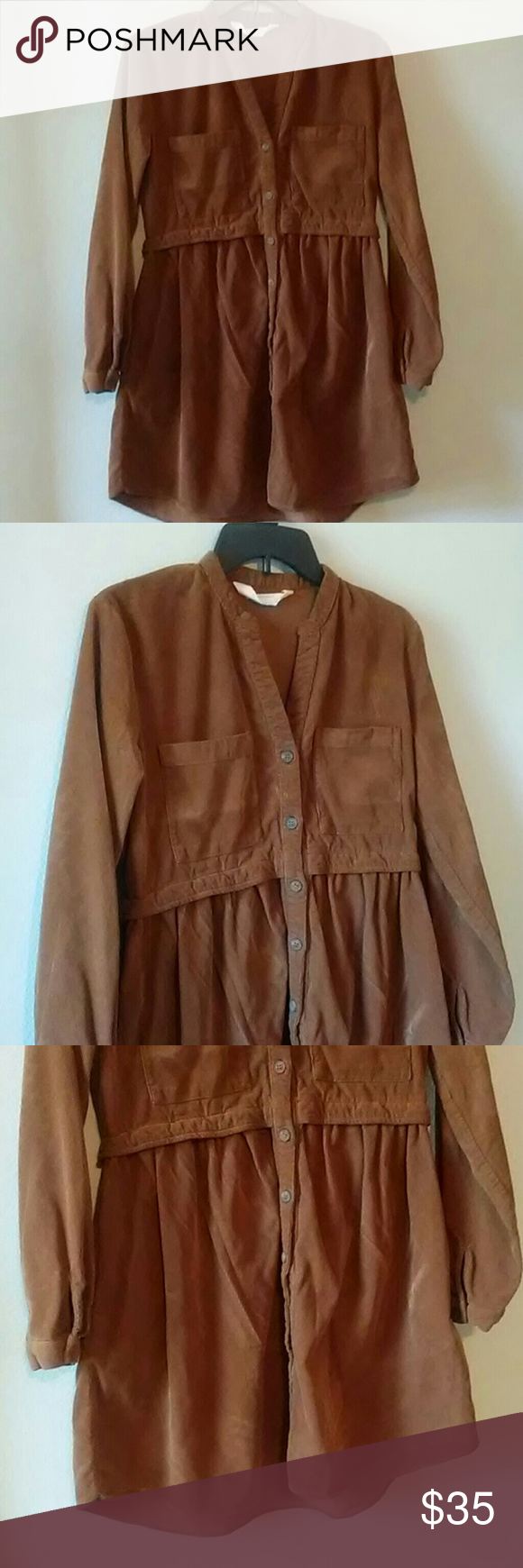 Zara Brown Corduroy Dress Corduroy Dress Zara Fashion [ 1740 x 580 Pixel ]