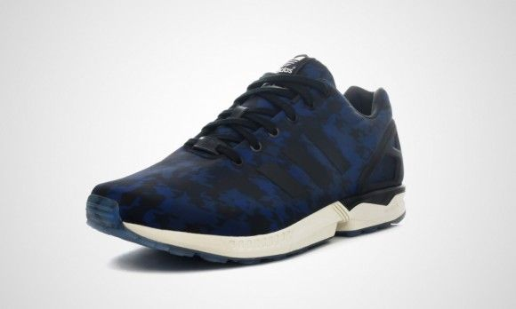 adidas zx flux camouflage bleu