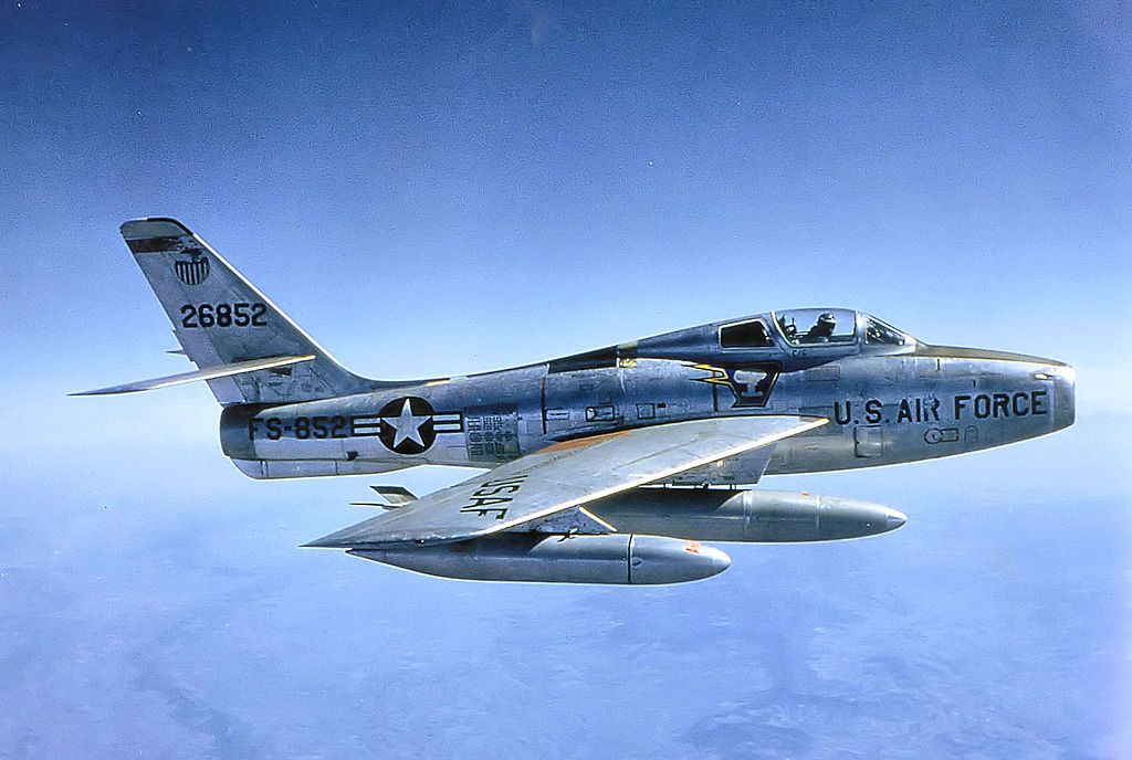 91st Tactical Fighter Squadron F 84f Thunderstreak Us Military Aircraft Aircraft Military Aircraft