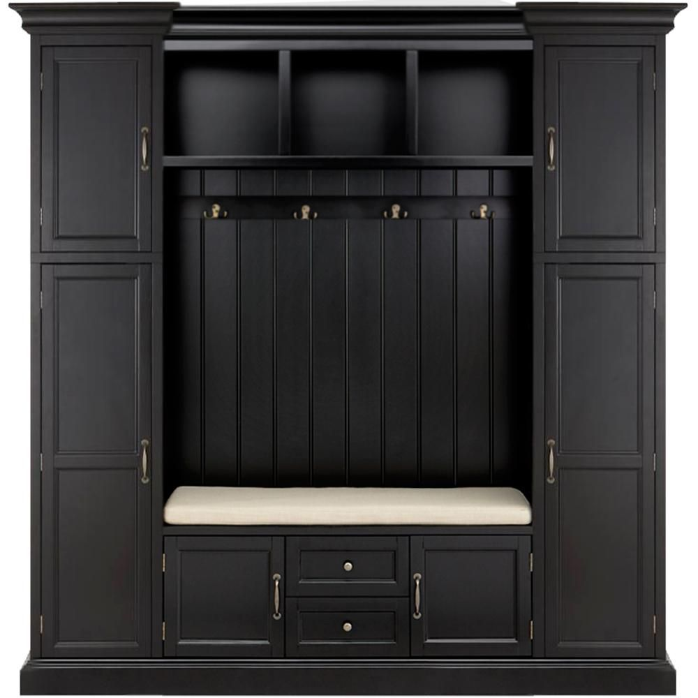 Best Home Decorators Collection Royce Solid Black Hall Tree 640 x 480