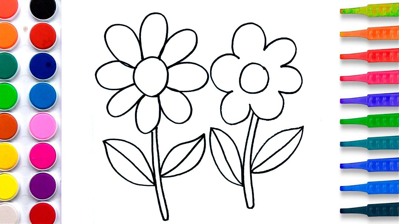 Flowers Coloring Pages Salt Painting For Kids Fun Art Learning Colors Painting For Kids Painting Pictures For Kids Designs Coloring Books