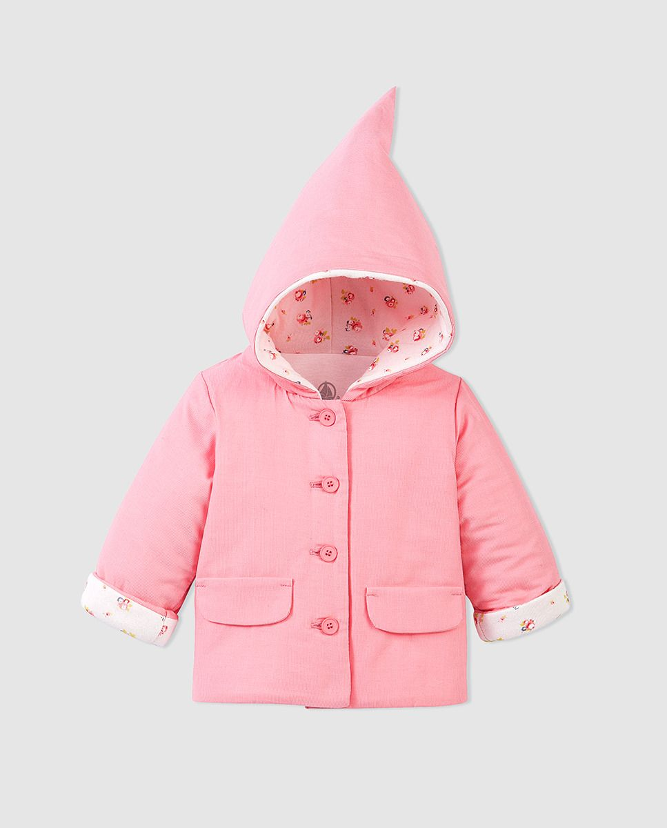 eff427911bd Abrigo de bebé niña Petit Bateau en rosa con capucha   For my baby ...