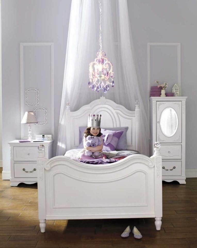 Najarian Furniture Duchess Twin Bed - White | Arya\'s Room | Pinterest