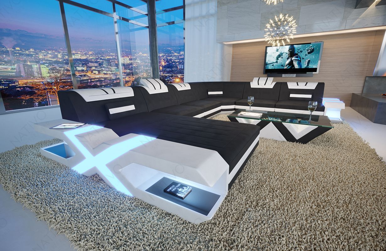 Bank Mystique Xxl Met Led Verlichting En Usb Poort Nativo Lederen Bankstel Kopen In Amstelveen Luxury Living Room Inspiration Modern Sofa Living Room Living Room Decor Cozy