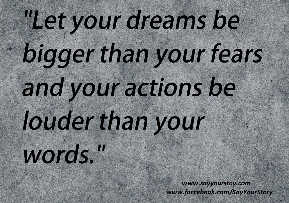 Let  your actions be louder than your words..