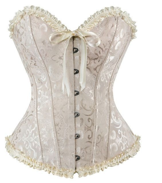 8b630fd5d3 AIZEN Corsets Sexy Women s Plus Size Corsets And Bustiers Overbust Gothic  Lace Strapless Brocade Corselet Clothing White Black