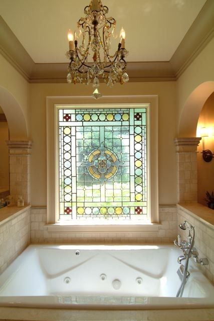 Always Wanted A Chandelier Over The Tub
