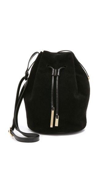 Halston Heritage Drawstring Bucket Bag ( 395) 4738a3c53e0e1