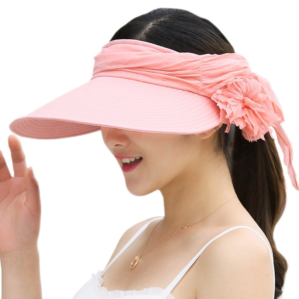 9e4ffba0458ab WITERY Women Two Way Folding Wide Brimmed Sun Protective Hat Cap Fashion  Reversible Sun Hat UPF