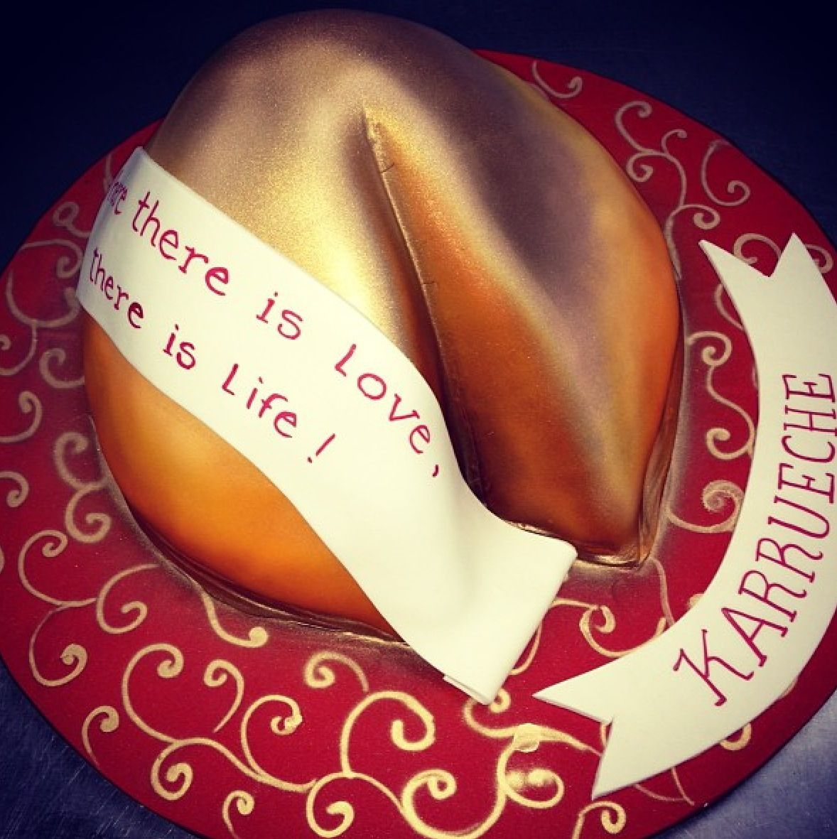 Fortune cookie cake grooms cake cookie cake cake