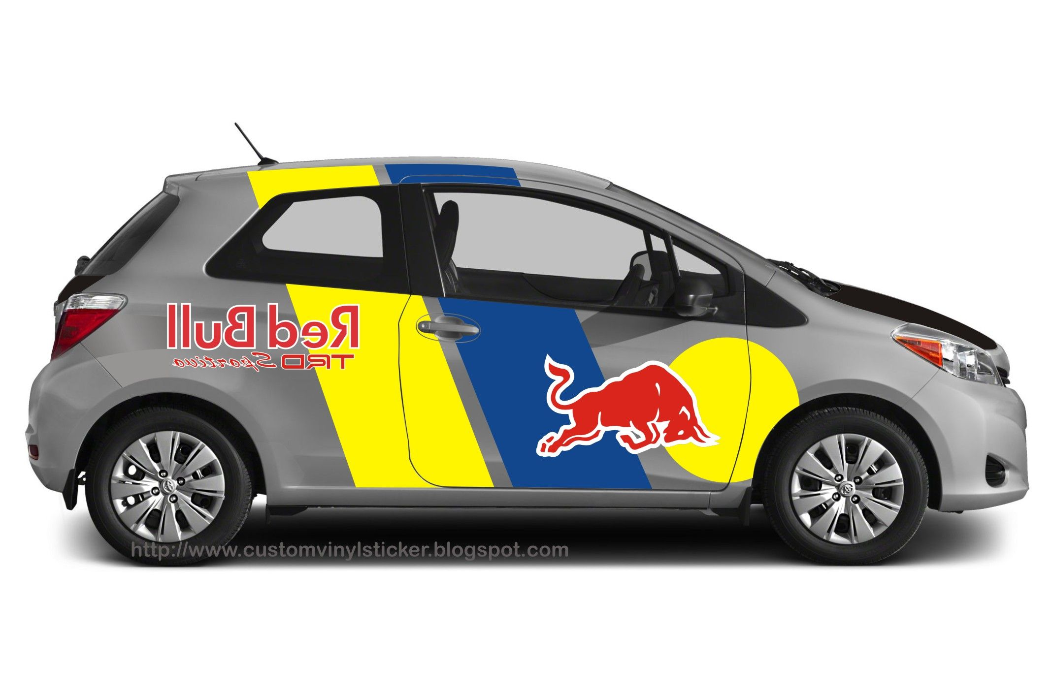Toyota car sticker design - Toyota Yaris Red Bull Trd Sportivo Sticker Concept By Stickrenz