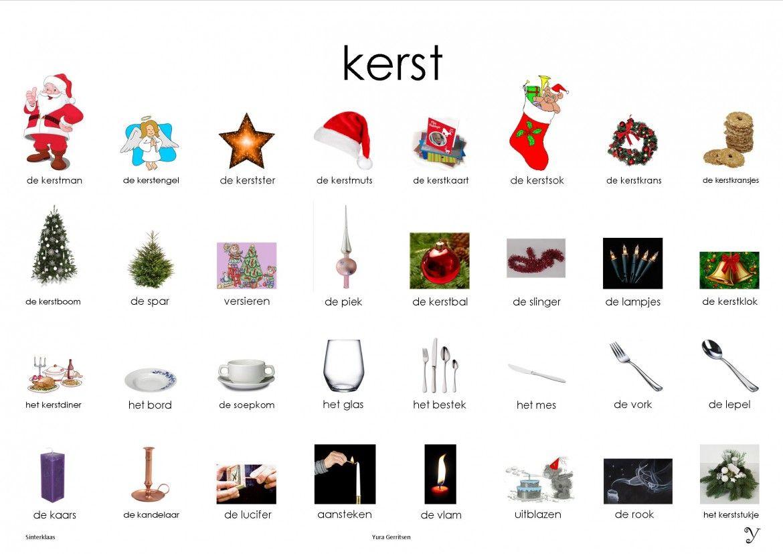 kerst plaat kerst woorden kerst woordenschat woorden