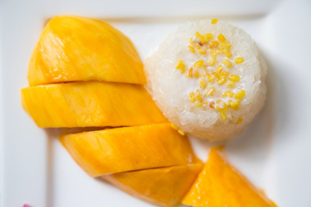 Coconut Milk Sticky Rice with Mangoes | Epicurious