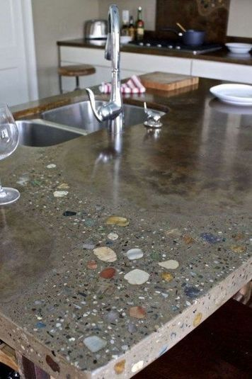When The Countertop Has Dried Take Your Sponge And Put On The Grout Sealer In Accordance Concrete Kitchen Making Concrete Countertops Diy Concrete Countertops