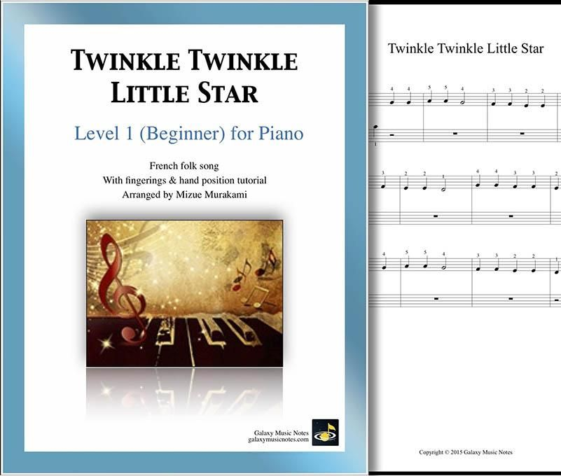 Twinkle Twinkle Little Star Level 1 Piano Sheet Music With