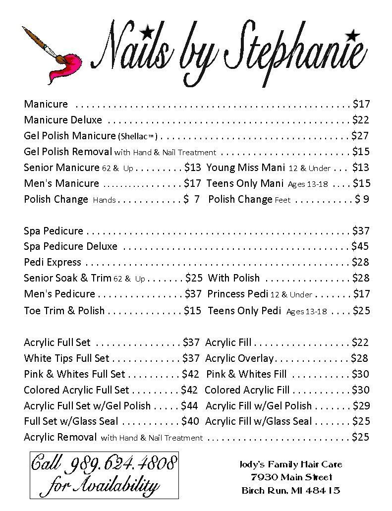 Price List 2015 In 2020 Nail Salon Prices Home Nail Salon Business Nails