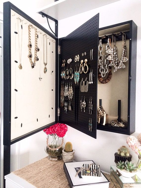 Love The Idea Of The Swinging Peg Board... Wall Mounted Jewelry Organizer  Photo