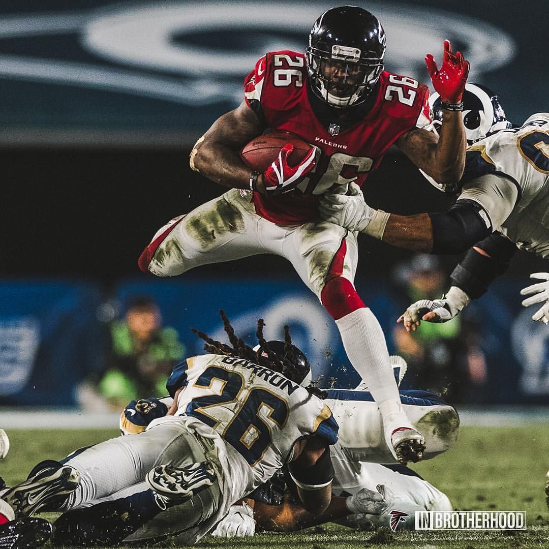 13 4k Likes 92 Comments Atlanta Falcons Atlantafalcons On Instagram Tevin Coleman Will Run Past You And Over You Atlanta Falcons Atlanta Falcons