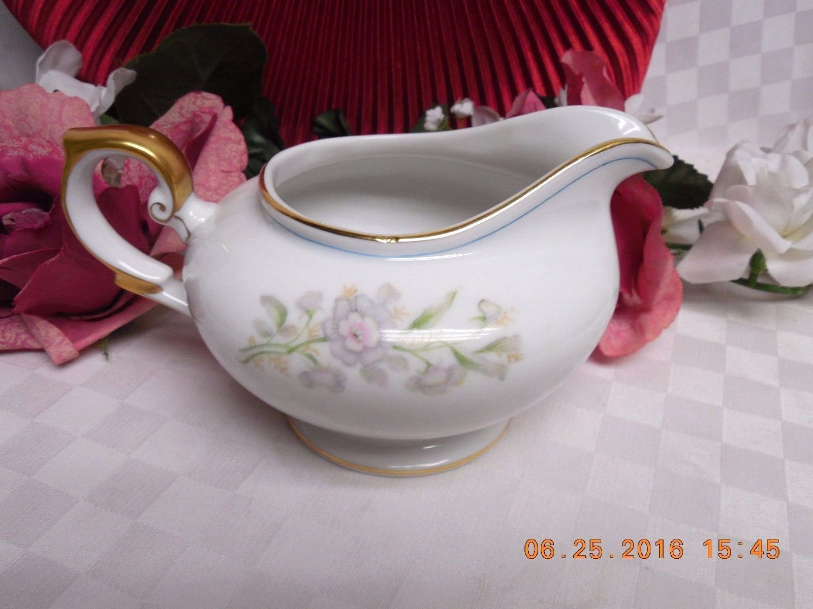 Rochelle by Grace White China Tableware Dinnerware Creamer & Rochelle by Grace White China Tableware Dinnerware Creamer ...
