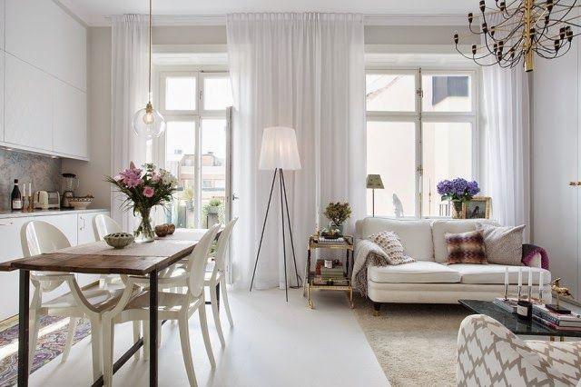 Femenino y elegante mini apartamento de 42 m²
