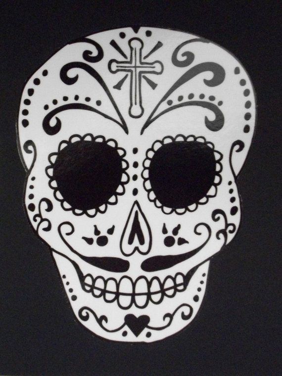 Simple Sugar Skull coloring page | Free Printable Coloring Pages | 760x570