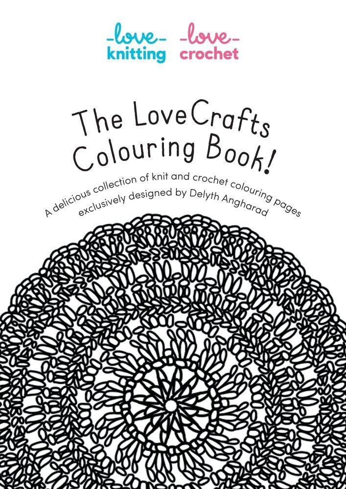 mindfulness knitting and a free colouring book - Coloring Book Yarns