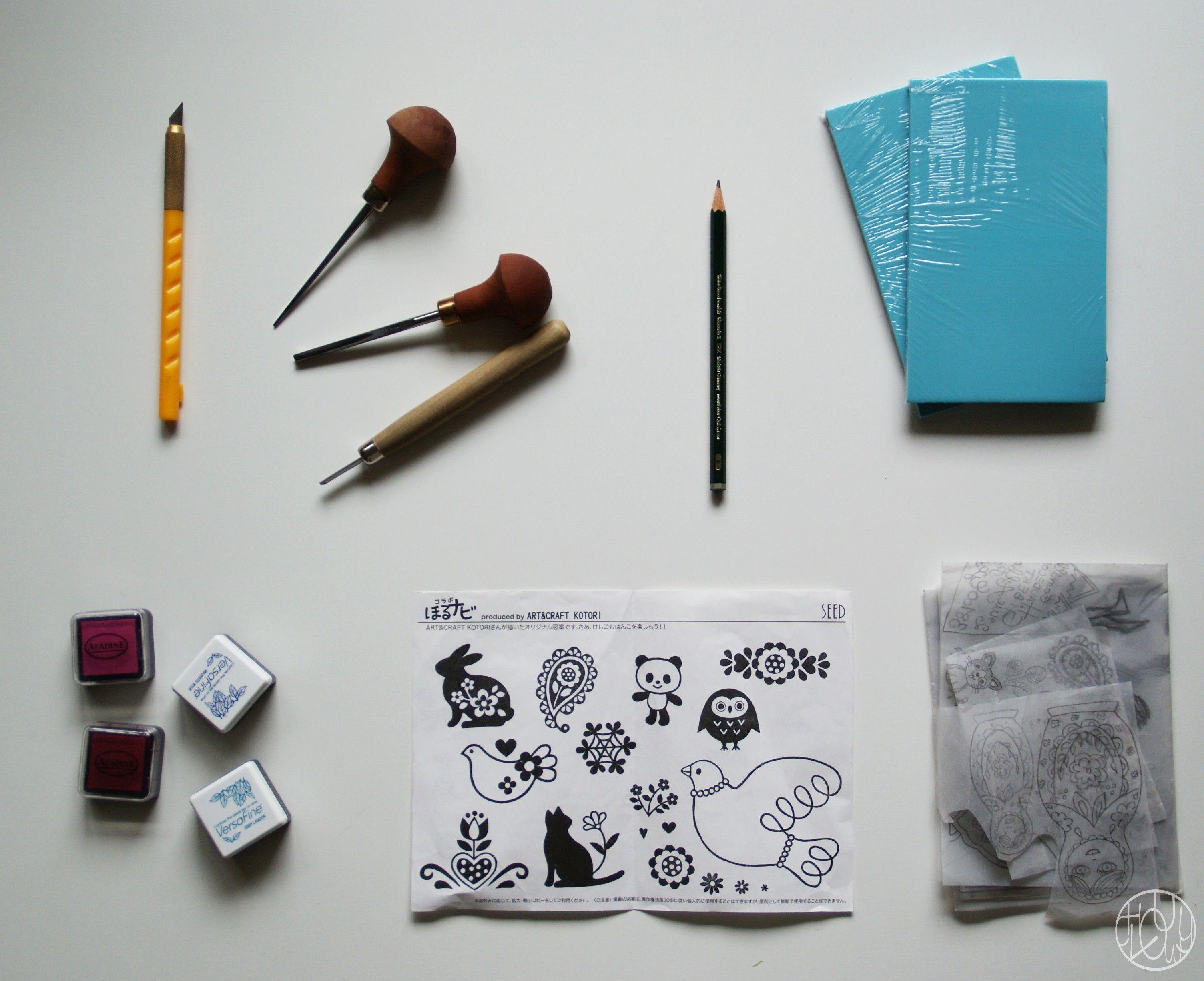 quel mat riel pour commencer la gomme graver lino diy crafts et scrapbook. Black Bedroom Furniture Sets. Home Design Ideas