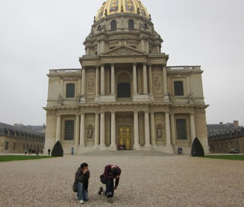 Tebowing with Napoleon in Paris #France