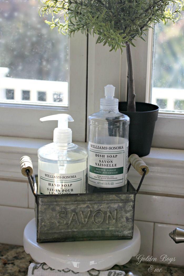 Williams Sonoma Kitchen Soap In Savon Galvanized Soap Holder    Www.goldenboysandme.com