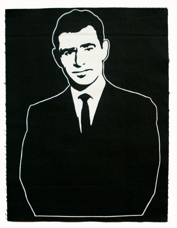 Twilight Zone Rod Serling Large Canvas Stencil Art by pconcave