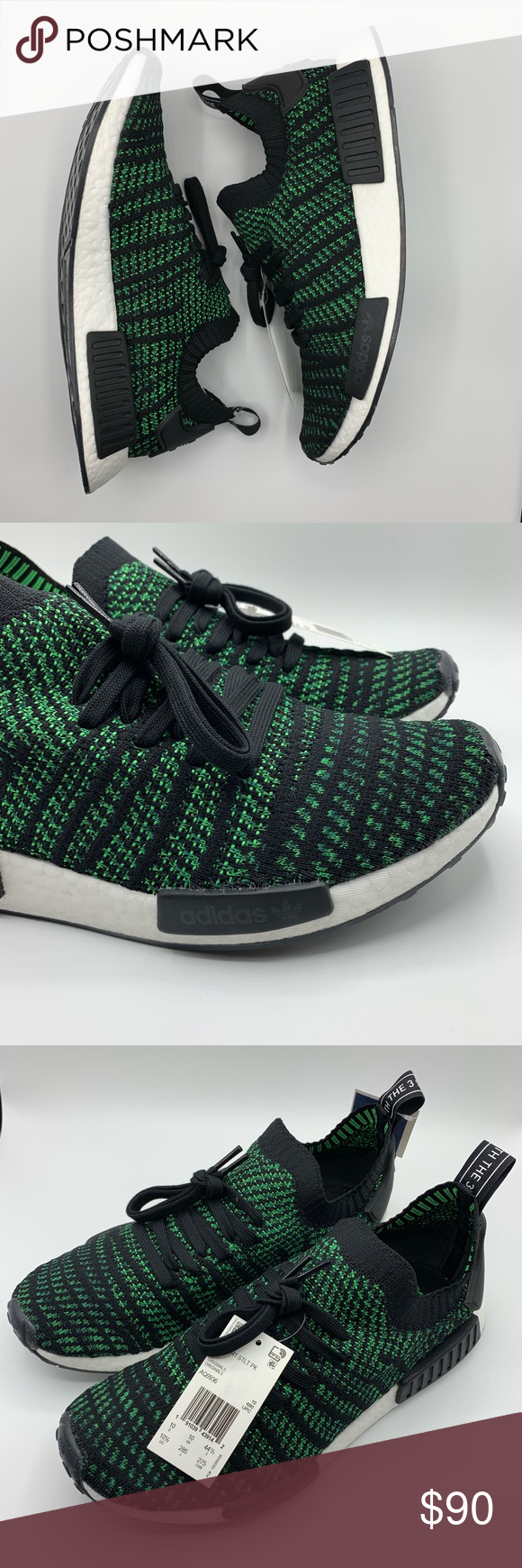 NO OFFERS Adidas NMD R1 STLT PK AQ0936 Green Black NWT