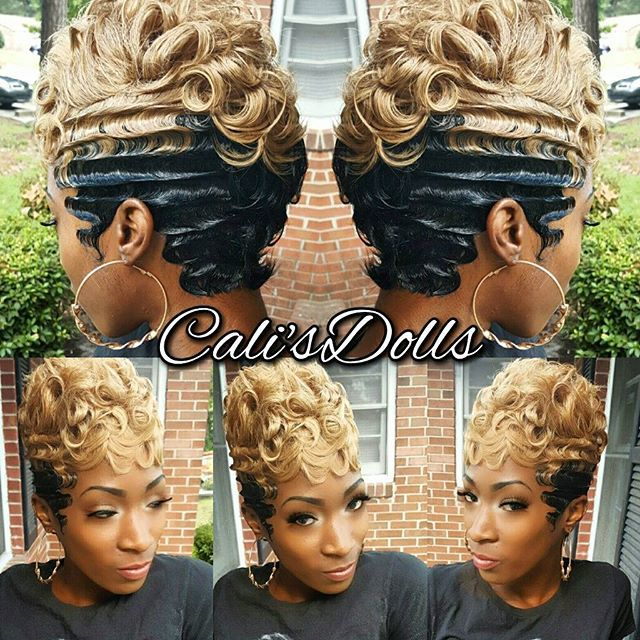#quickweave #nohairout #scstylist #fingerwaves #blondehair
