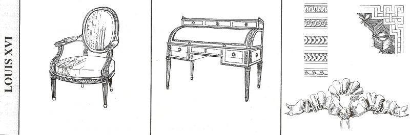 Louis xvi histoire de l 39 art de l 39 architecture et des for Histoire du meuble