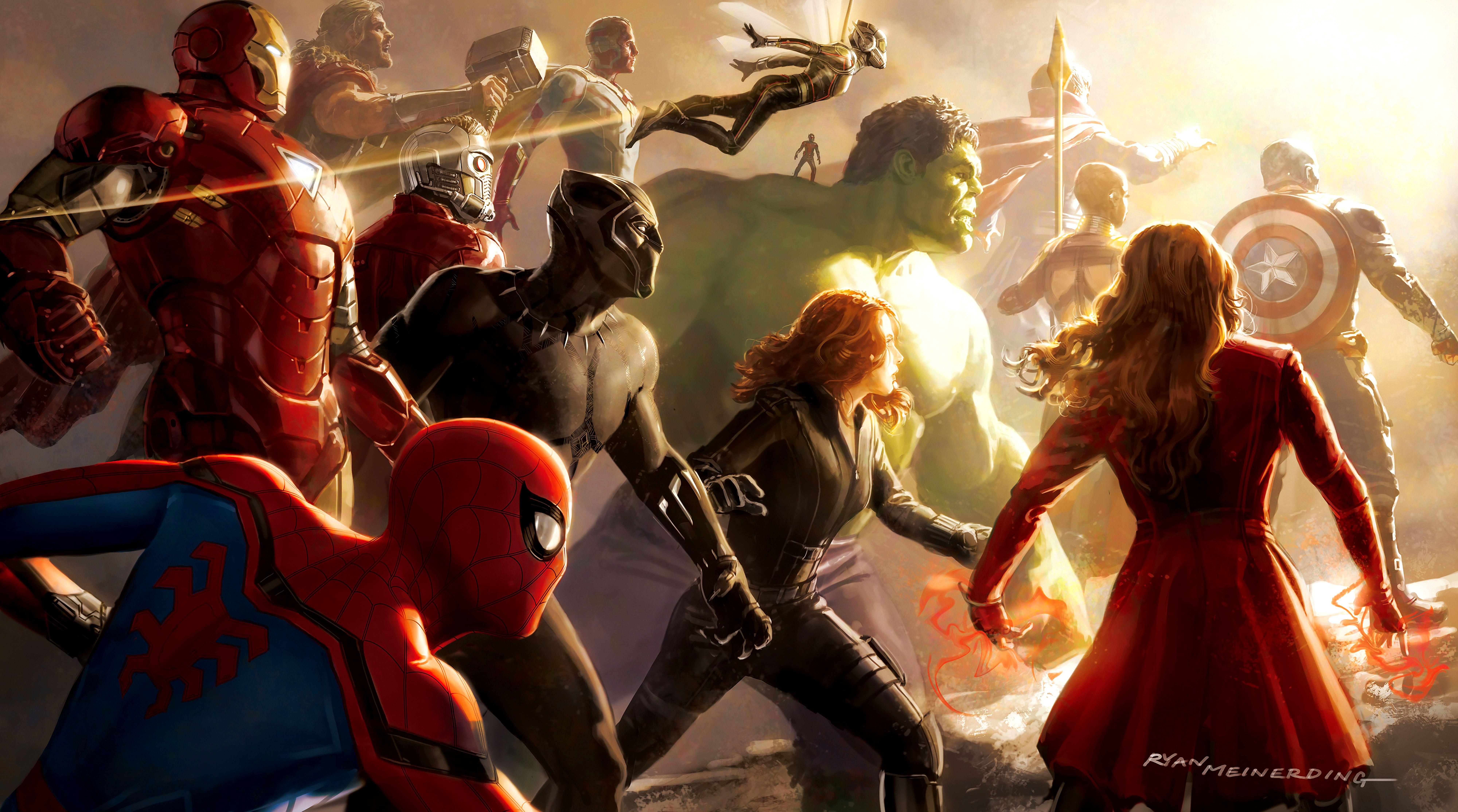 4k Wallpaper For Pc Avengers Infinity War Gallery Papel De Parede Pc Vingadores Marvel