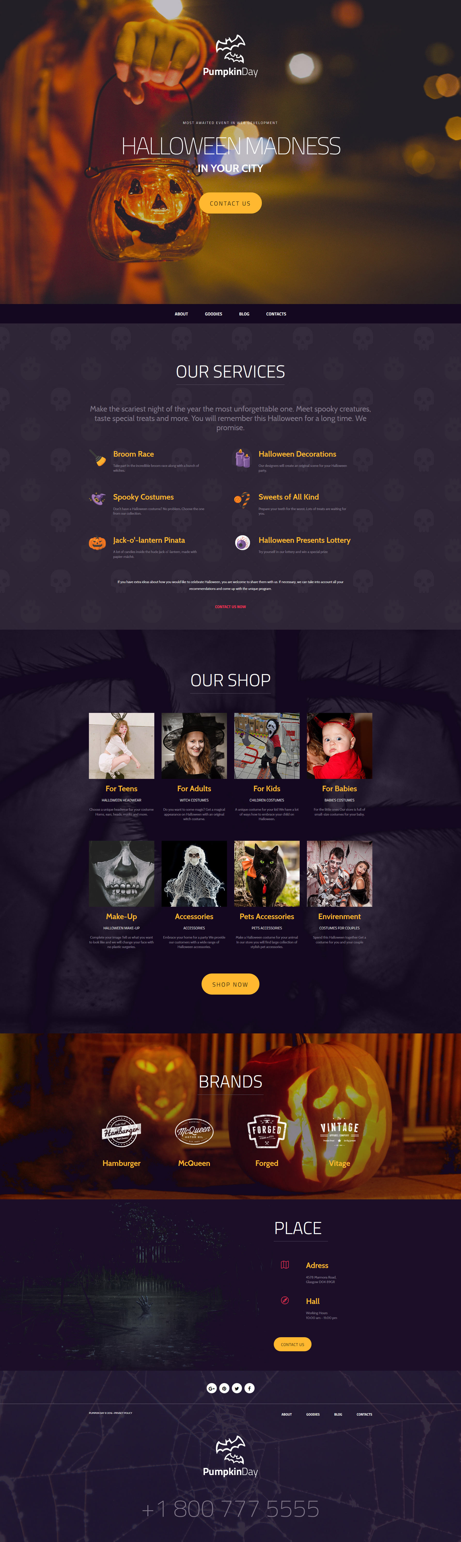 halloween responsive moto cms 3 template new website templates
