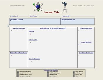 Lesson Plan Template Science Editable Lesson Plan Templates - School counselor lesson plan template