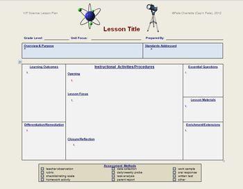 lesson plan template science editable science ideas. Black Bedroom Furniture Sets. Home Design Ideas