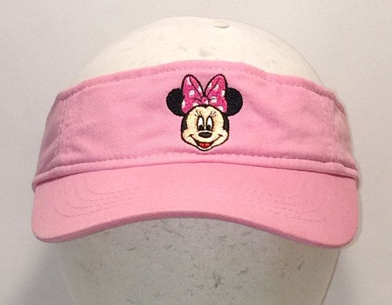 Cool Hats - Vintage Minnie Mouse Sun Visor Hat Pink Visors For Women Adult  Girls Mickey Mouse Disney Vacation Golf Hats Sports Caps T105 A8189 34281adc2df