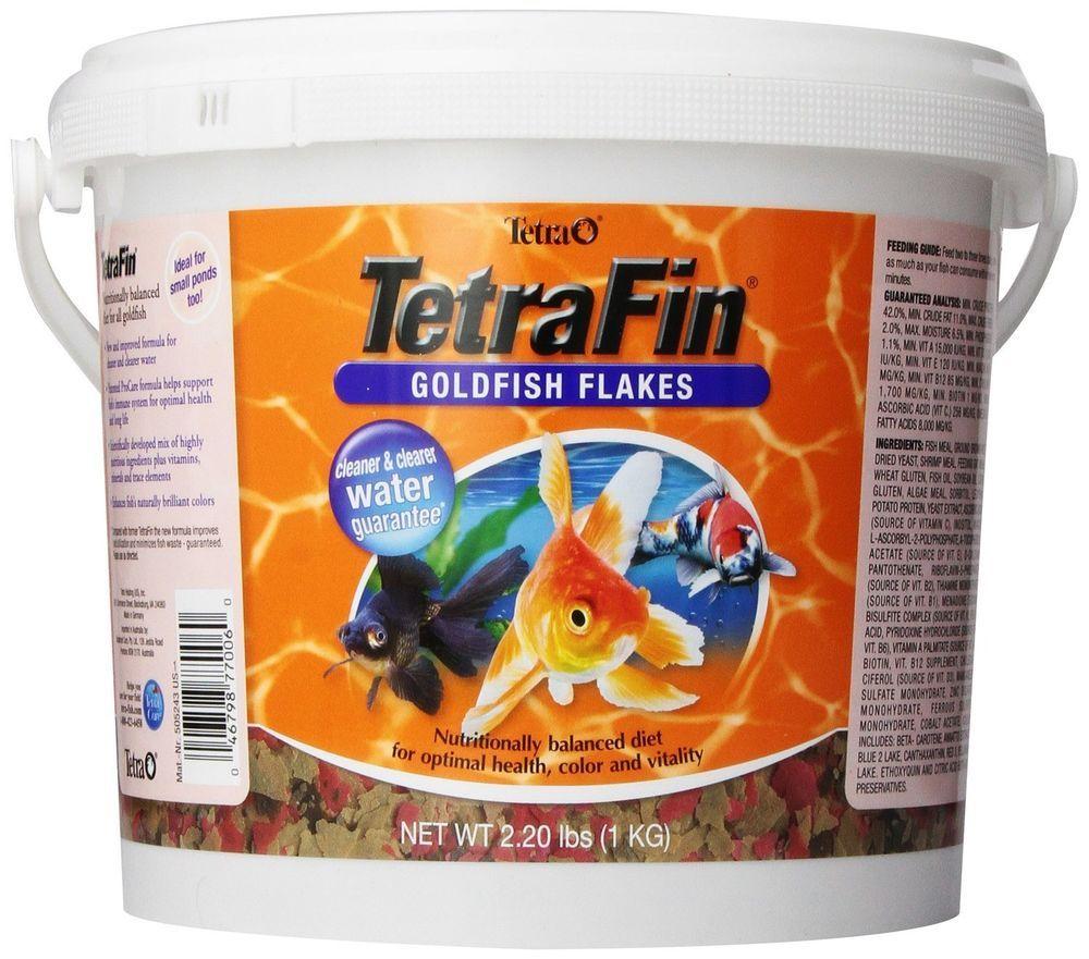 Goldfish flakes fish food 22 lbs aquarium gold water