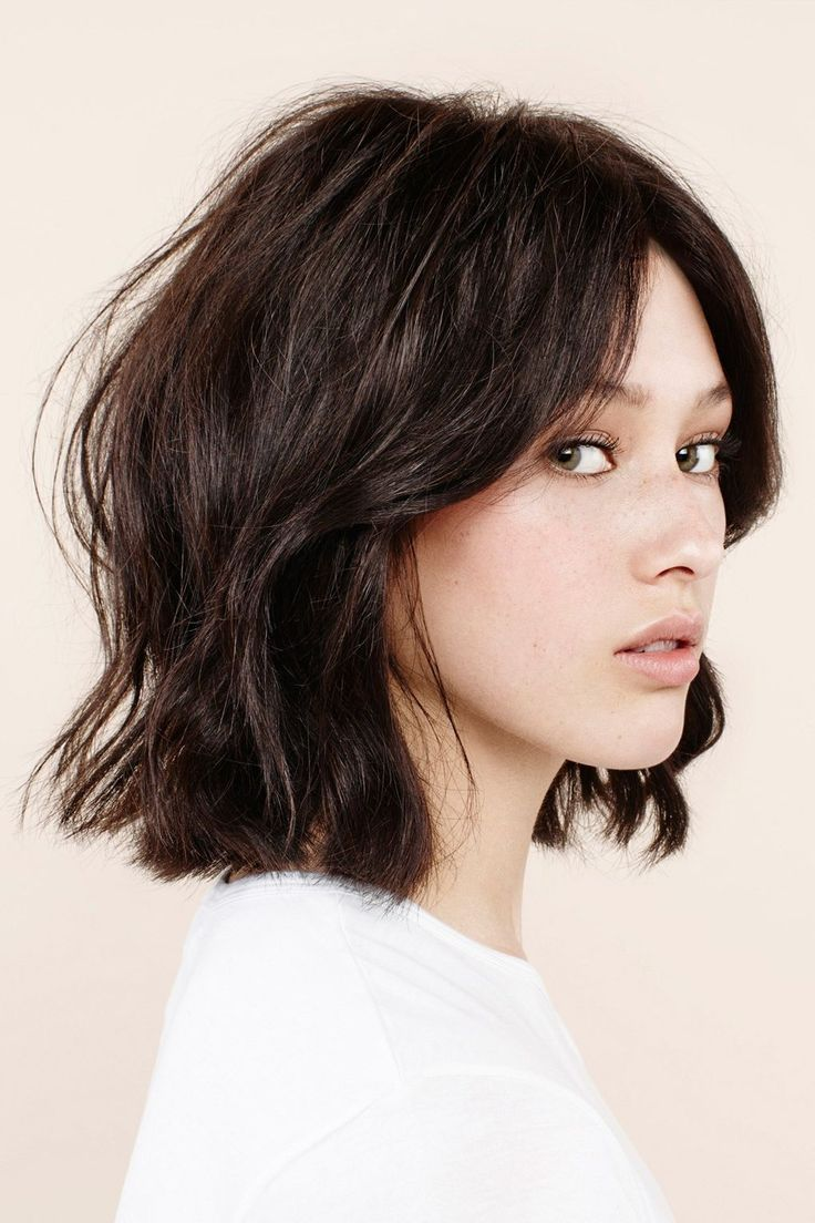 Coupe de cheveux femme mi long degrade brune