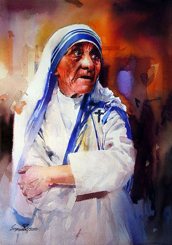 Modern Mother Teresa Art