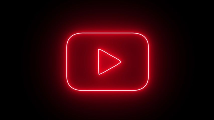 Glowing Youtube Icon Red In 2020 Neon Wallpaper Iphone Wallpaper Logo Wallpaper Iphone Neon