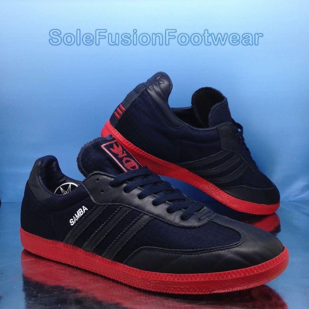 Adidas Originals Samba Trainers hombre  zapatillas Azul / rojo SZ raras