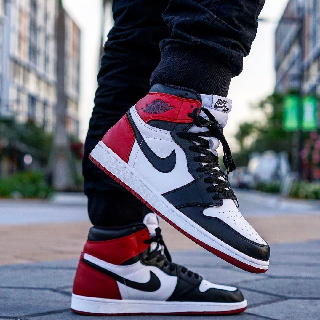 86732967211 Air Jordan 1 Retro High Black Toe | Summer outfits | Running shoes ...