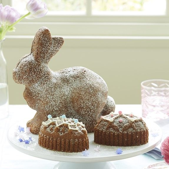 Nordic Ware Easter Bunny Bundt 174 Cake Pan With Egg